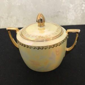 Union K Porcelain Lusterware Sugar Bowl